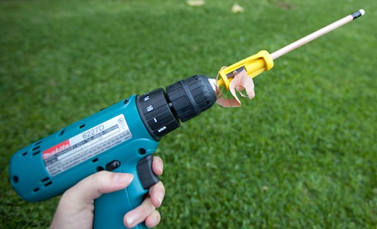 Sharpen your pencils via drill