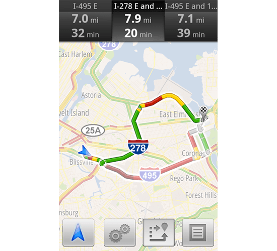 Google Maps Navigation now guides you around heavy-traffic areas
