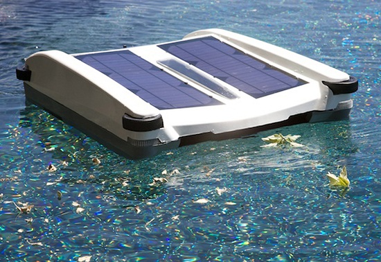 Solar Pool Skimmer cuts down on your pool maintenance