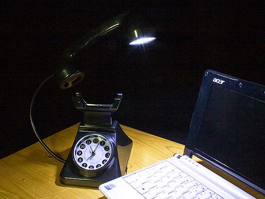 USB Retro Telephone Light With Alarm Clock
