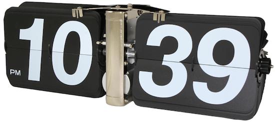 Giant Flip Clock tells time in a retro fashion
