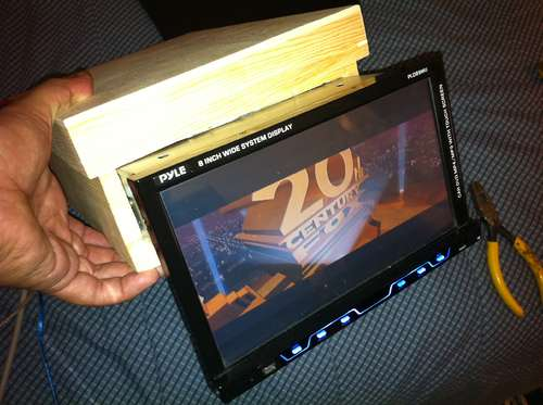 Turn your old car stereo into one you can use inside