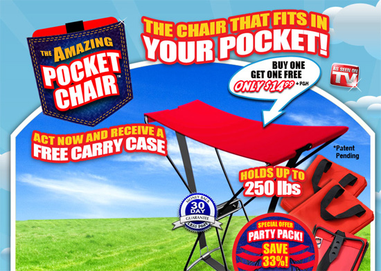 The Pocket Chair gives you a seat anywhere