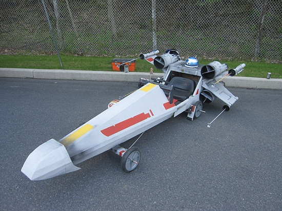 Make your own X-Wing soapbox derby car for $75