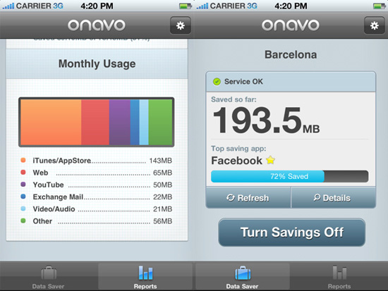 Use a free app to cut down your phone's data usage