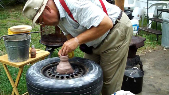 DIY Project brings a new meaning to the term potter's wheel