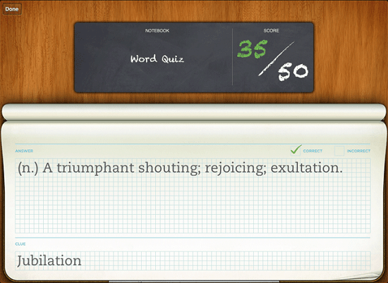 Evernote Peek turns your iPad 2 into a set of flash cards