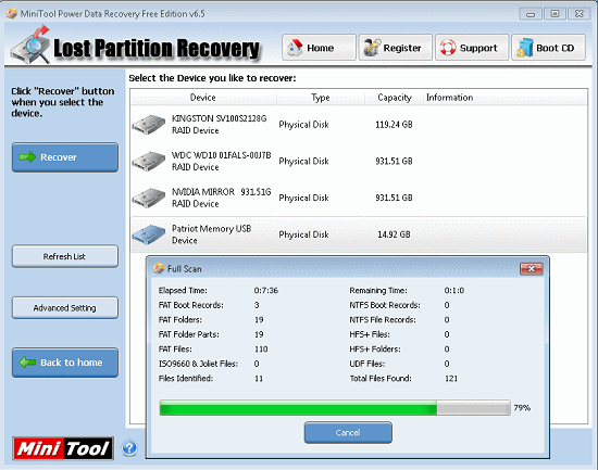 Use freeware to recover files from your broken drive