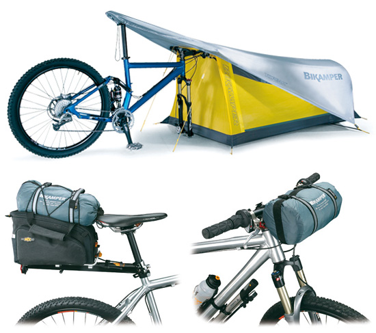 Bikeamper Tent uses your bike as its frame