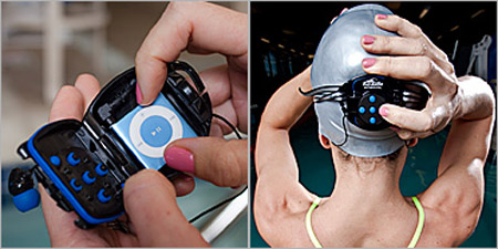 H2O Interval Swim System lets you use your iPod Shuffle underwater