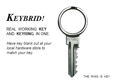 Keybrid turns your house key into a keyring