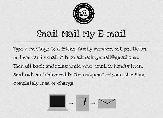 snail mail Snail Mail project transforms an email into a handwritten letter