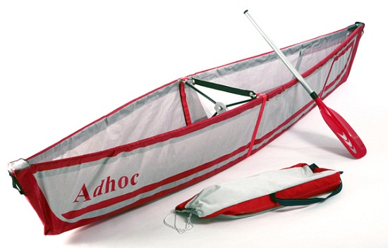 Adhoc Canoe weighs just 9 pounds, fits on your back