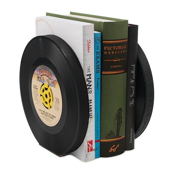 Cradle your music collection with these Recycled Record Bookends