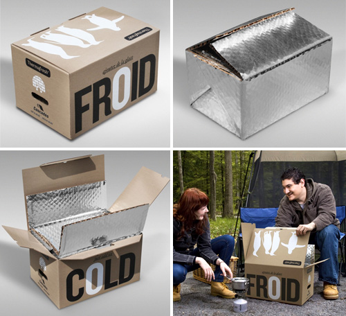 Recycled Cardboard Cooler Boxes