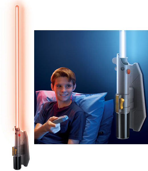 Star Wars Remote Control Lightsaber Room Light Star Wars Remote Controlled Lightsaber Room Light