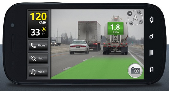 slide bg iOnRoad lets you know when youre too close to another vehicle