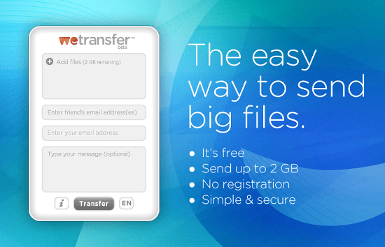 WeTransfer takes the hassle out of transferring files online