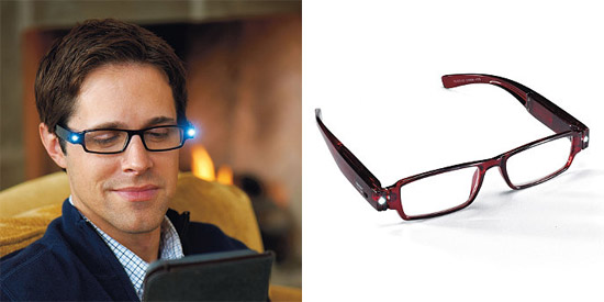 LED Reading Glasses put the light exactly where you need it