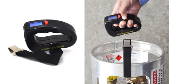 Digital BBQ Gas Bottle Scale lets you know how much gas you have left