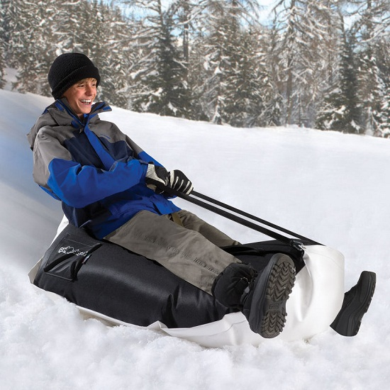 Bean Bag Sled makes for a smooth ride