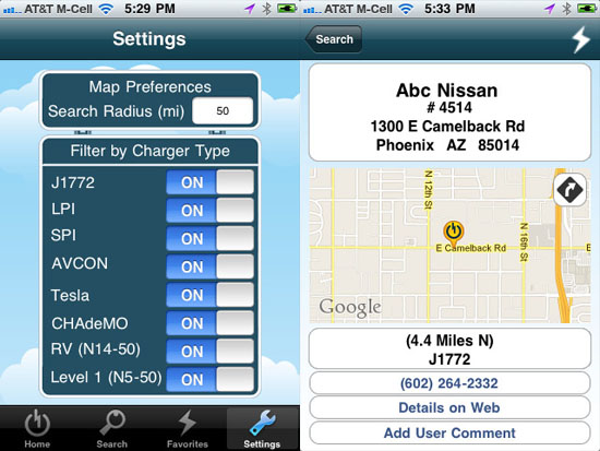 CarStations maps out electric car charging stations in your area
