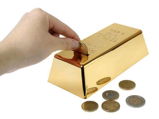 999.9 Gold Bullion Coins Bank isn't worth as much as the real thing