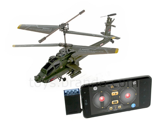 AH-64A Apache Helicopter is controlled by your iOS or Android phone