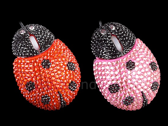 USB Bling Bling Ladybug Mouse is just as horrifying as the name implies