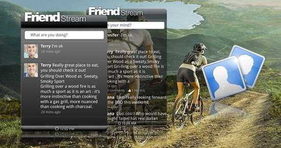 friend stream HTC Home puts the same widgets from your phone onto your desktop