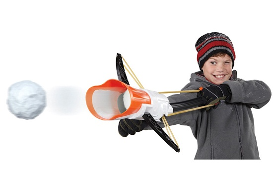Crossbow Snow Launcher makes snowball fights more interesting