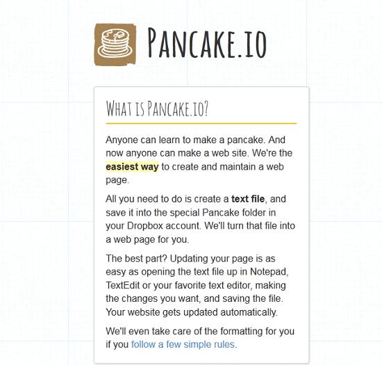 Use Pancake.io to create URLs for your Dropbox files
