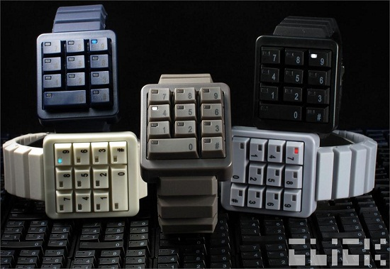 Click Black Keypad Hidden Time watch shows off your love of the number pad