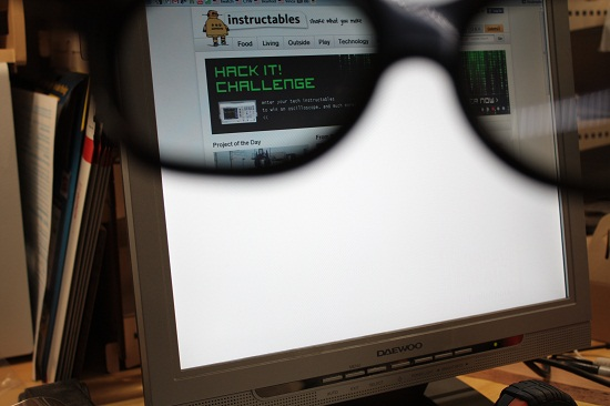 Hack your monitor to only be visible with special glasses