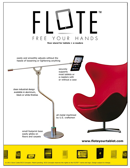 Flote is a beautiful way to hold up your favorite tablet