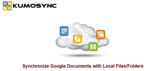 KumoSync keeps your local documents backed up to Google Docs