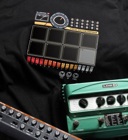 ThinkGeek's Electronic Drum Machine Shirt goes to 11