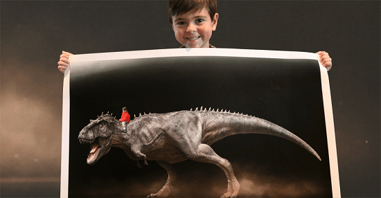 Have you ever pictured yourself riding a dinosaur?