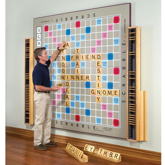 World's Largest Scrabble Game might require a stepladder