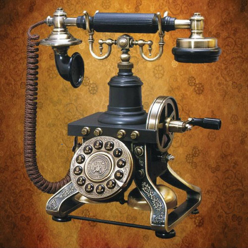 Steampunk Telephone is straight out of the 1890's