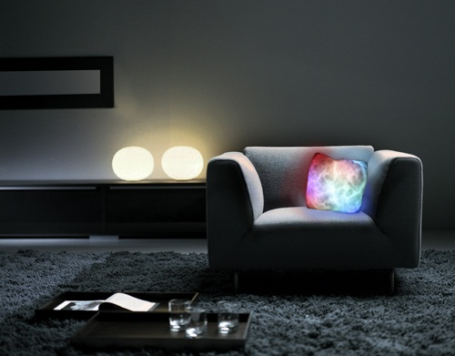 Chromatherapy Cushion gives you a light show before bed