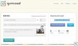 gumroad2 thumb Gumroad makes selling your stuff as easy as sharing a link