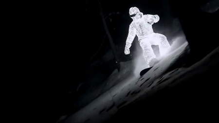 The LED suit – a snowboarder's (night-time) delight
