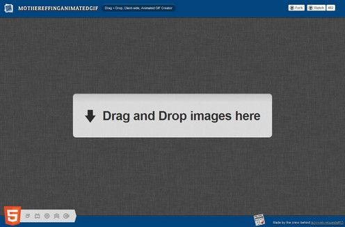 mothereffinganimatedgif small mothereffinganimatedgif lets you create animated gif images in a snap, and for free