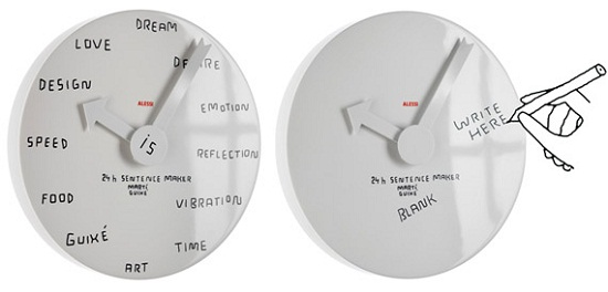 Blank Wall Clock lets you decide what time it is