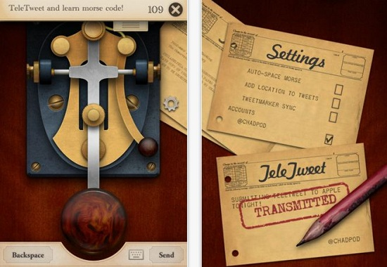 TeleTweet App lets you use Morse code to tweet