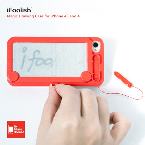 iFoolish Magic Drawing Case for iPhone is an etch-a-sketch