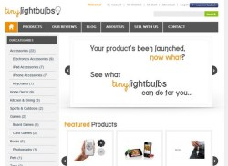 Tiny Lightbulbs specialises in selling crowd funded products direct to your door
