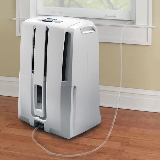 The Self-Emptying Dehumidifier makes your life easier on a hot day
