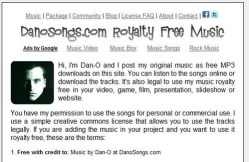 DanoSongs offers free music for your game, video or other projects [Freeware]